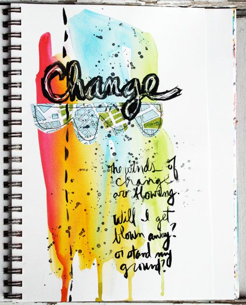 Stamping Bella: Julie's Paint Splat | Creative journal ...