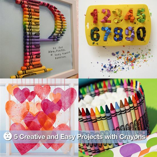 17 best images about crayons on pinterest broken crayons for Diy creative crafts