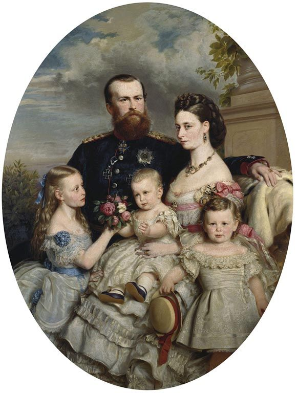 Prince Louis and Princess Alice of Hesse with three of their children   Royal Collection Trust