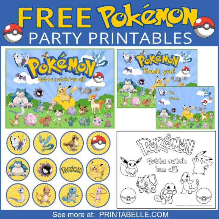 Pokemon Party Printable Set