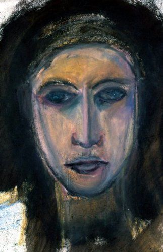 Faces a common theme in my work. A desired reaction or goal for the viewer in a specific sense doesn't exist, generally speaking, it is simply up to the viewer. Do you feel something? Maybe? Maybe not. Today I am sharing some faces. The first one is pastel mixed with oil on paper from the 90's. I don't remember exactly when but it was one of my first faces…