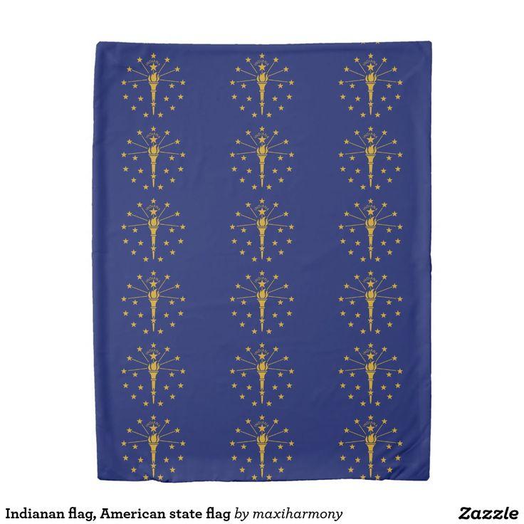 Indianan flag, American state flag Duvet Cover