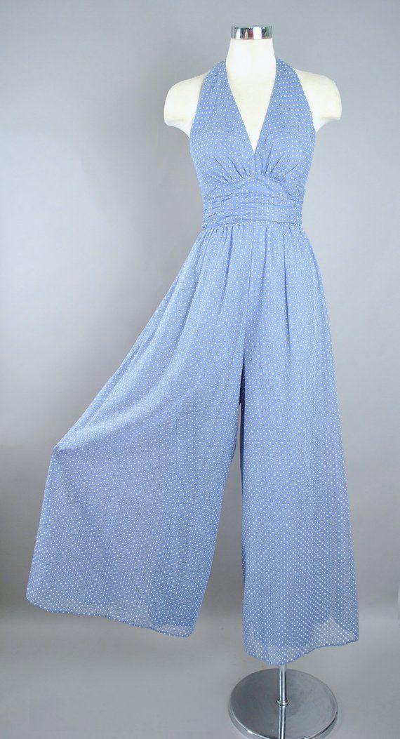 1950s style vintage H/&M playsuit pink polkadot halter neck xs 68