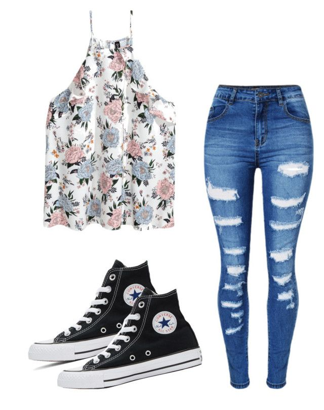 """""""Untitled #161"""" by brodriguez8104 on Polyvore featuring WithChic and Converse"""