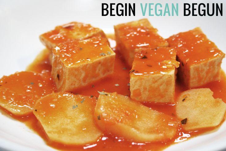 """Hoy toca algo salado, una forma fácil de preparar el tofu y muy fácil. Ingredientes: 300 gr. de Tofu (en mi caso """"estilo Japonés"""", unos 2€ y algo). 2 patat"""