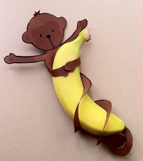 Free download - Banana Monkey Birthday party treats. #freebie