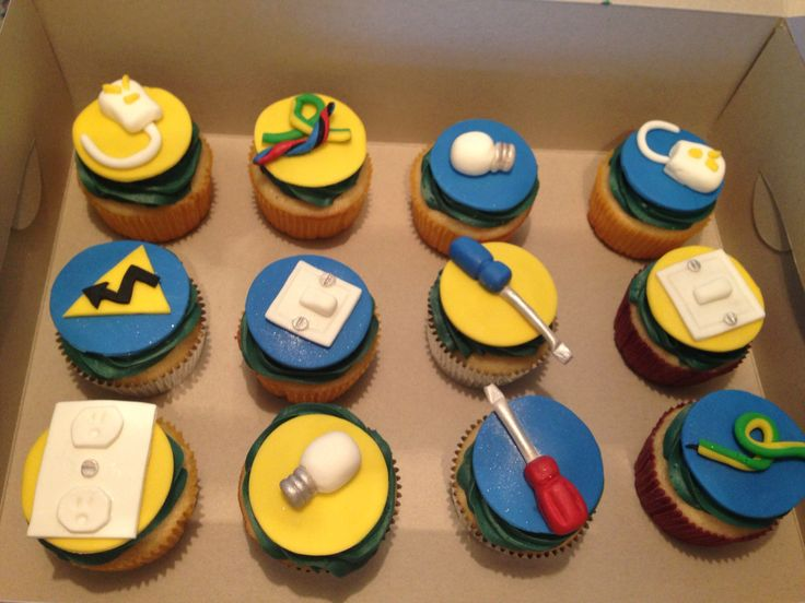 Electrician Cupcakes Cakes And Stuff Pinterest Cupcake
