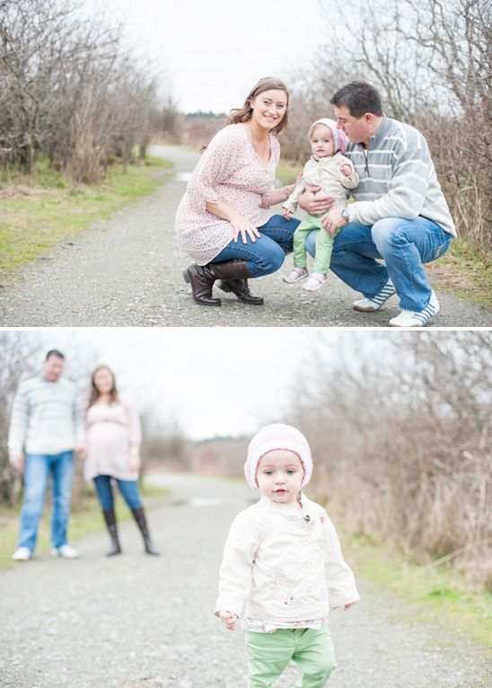 Beautiful Outdoor Family Maternity Photos in British ...