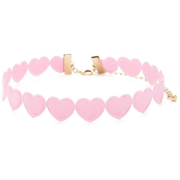 Forever21 Heart Silhouette Choker ($4.90) ❤ liked on Polyvore featuring jewelry, necklaces, pink, pink necklace, chain choker necklaces, cut out necklace, pink jewelry and heart choker