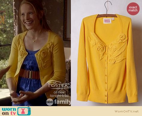 Daphne's yellow cardigan on Switched at Birth.  Outfit Details: http://wornontv.net/16541/