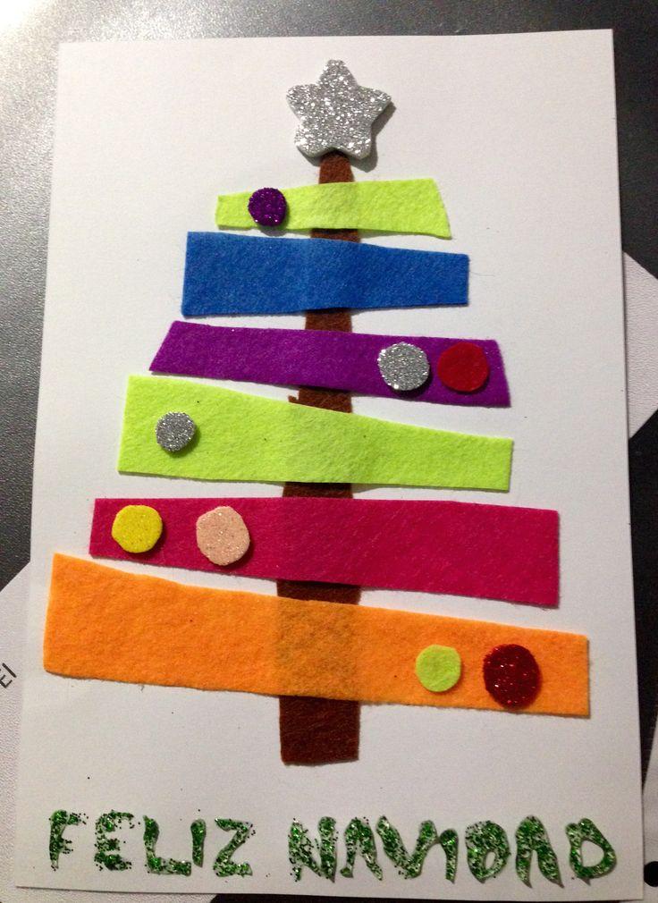 17 mejores ideas sobre postales navidad originales en pinterest regalos de navidad originales - Postales navidad manualidades ninos ...