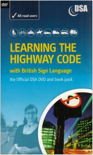 Learning the Highway Code with British Sign Language - The Official DSA DVD and Book Pack Reviews - http://www.cheaptohome.co.uk/learning-the-highway-code-with-british-sign-language-the-official-dsa-dvd-and-book-pack-reviews/  Learning the Highway Code with British Sign Language – The Official DSA DVD and Book Pack Short Description Allows British Sign Language users to learn the Highway Code for their safety and the safety of others. This title includes: The Highway C