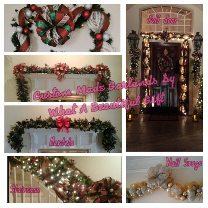 28 best Christmas Stairway Garlands images on Pinterest ...