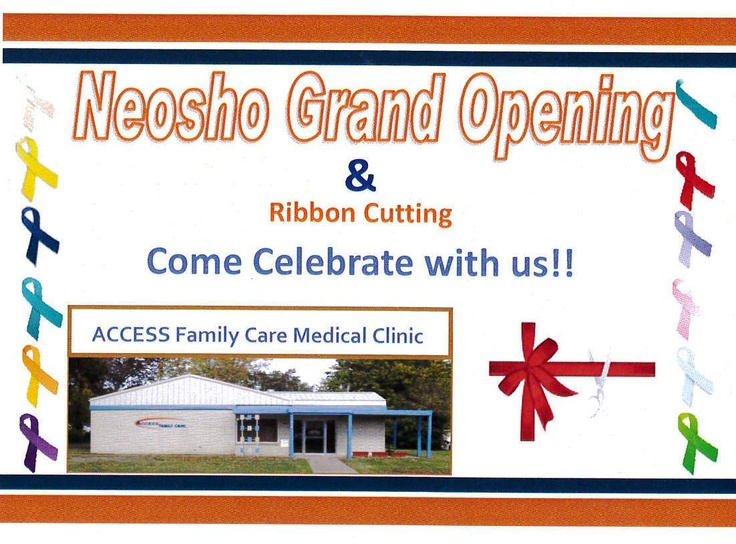 Neosho Grand Opening & Ribbon Cutting. Come Celebrate with