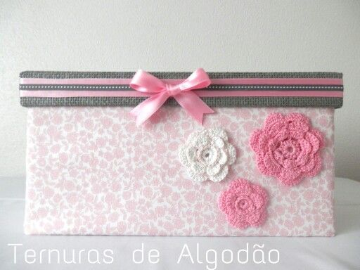 Fabric box for baby girl