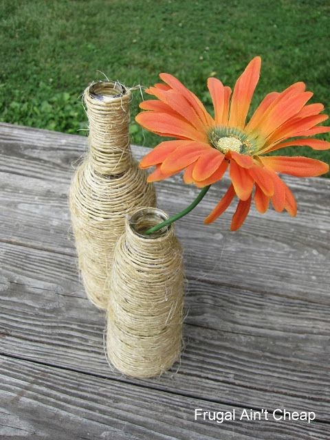 Frugal Ain't Cheap: Twine Bottles