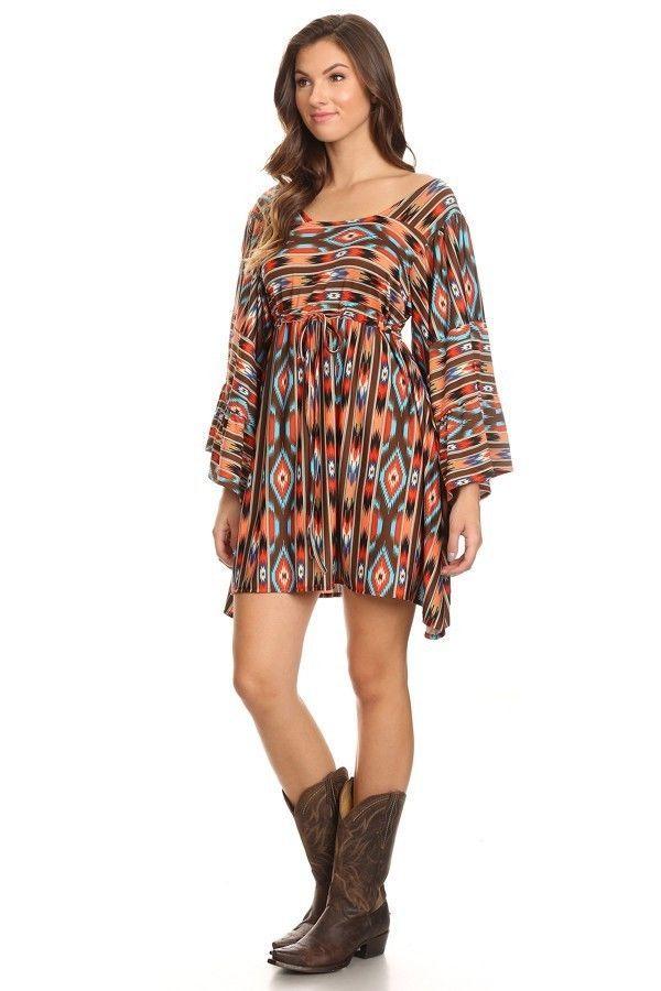 Gypsy Cowgirl Chic Hippy Boho Trendy Navajo Print Tunic Christmas Gift 4 Her #GypsyCowgirlChic #Tunic #Casual
