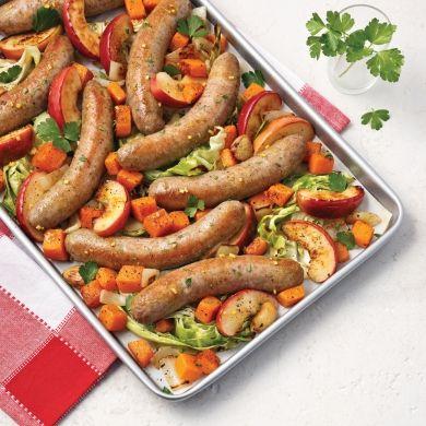 Saucisses au cari et pommes - Recettes - Cuisine et nutrition - Pratico Pratique
