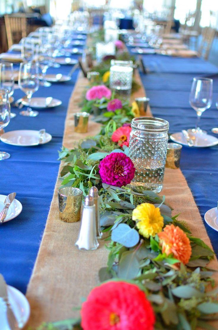 Photo & Flowers: Koko Floral Design  #ウェディング#カラフル #夏#テーブルコーデ #テーブル装花 #ガーランド