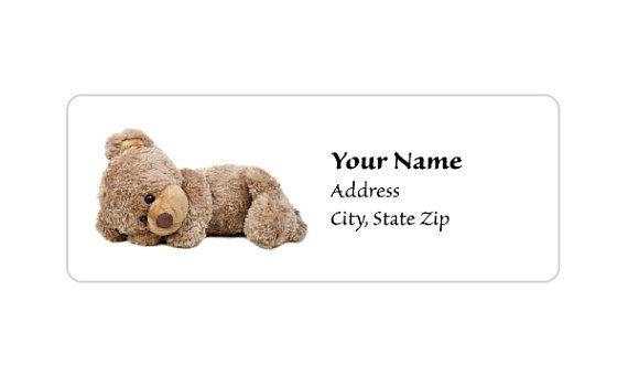 Étiquette C0005 : Ours de nounours mignon par LabelsbyTwo19Design