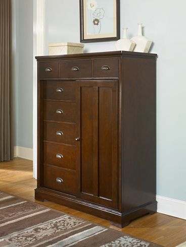Mens Chest..with sliding cabinet to reveal shelves inside. So unique. Bedrooms, Westchester | Havertys Furniture