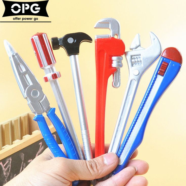 6Pcs/lot  Personality Hardware Tools Korean Stationery Creative Ballpoint Pens Quality Pen  Office School Supplies Sale