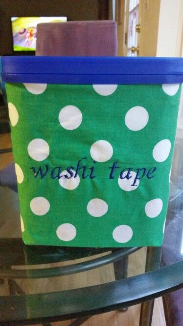 Recycled carnation instant breakfast container for washi tape