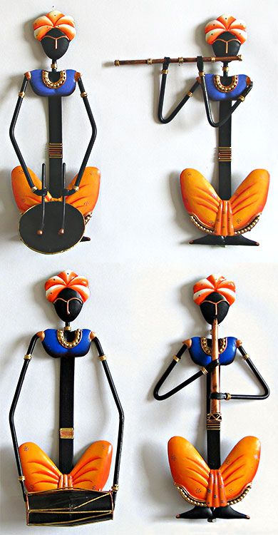 Four Rural Musicians - Wall Hanging (Wrought Iron))