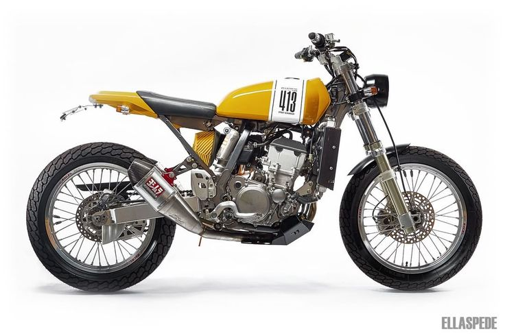 Suzuki DR-Z400E Street Tracker by Ellaspede #motorcycles #streettracker #motos | caferacerpasion.com