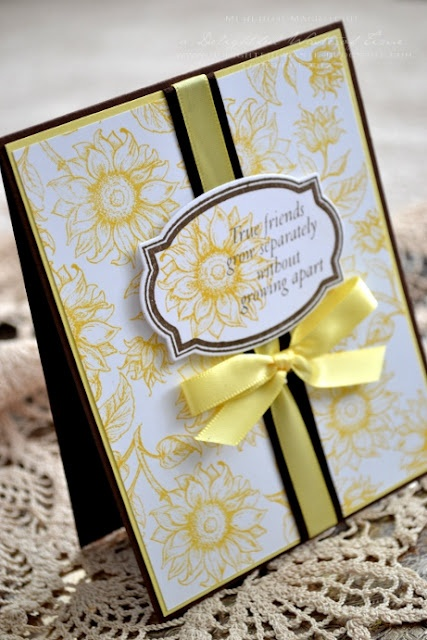 simple sunflower card