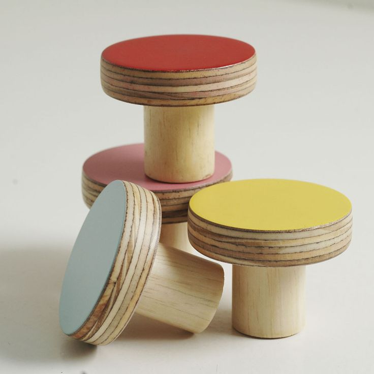 Wooden knobs, Chocolate Creative