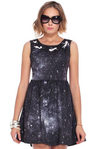 Angel Print Galaxy Dress http://www.romwe.com/angel-print-galaxy-dress-p-73731.html?Pinterest=fyerflys