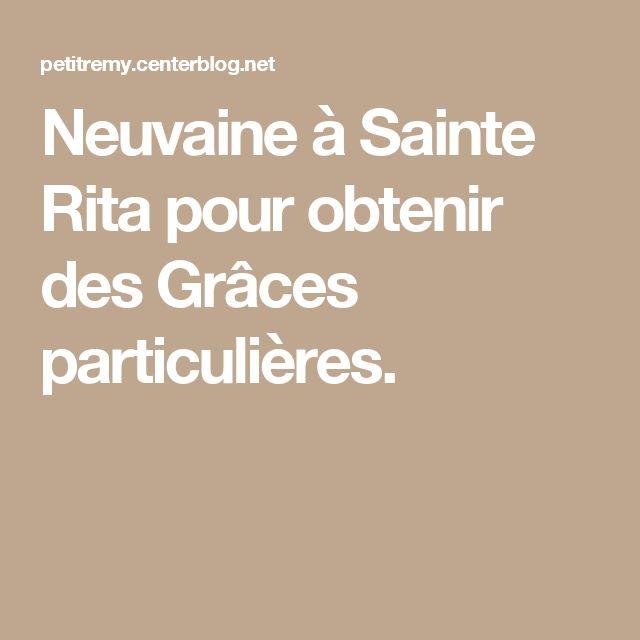 Neuvaine à Sainte Rita pour obtenir des Grâces particulières.
