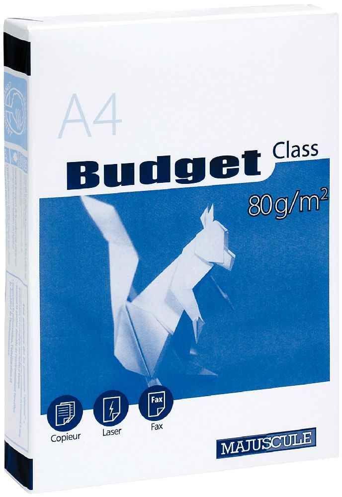 Ramette de 500 feuilles de papier Blanc 80g. Format A4 (21 x 29.7 cm).