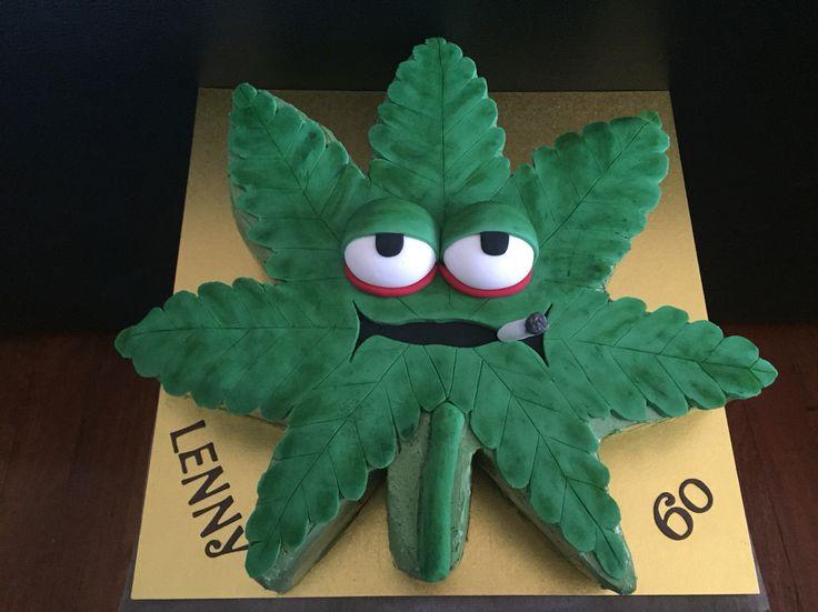 Marajuana leaf for a 60th birthday. Love it!