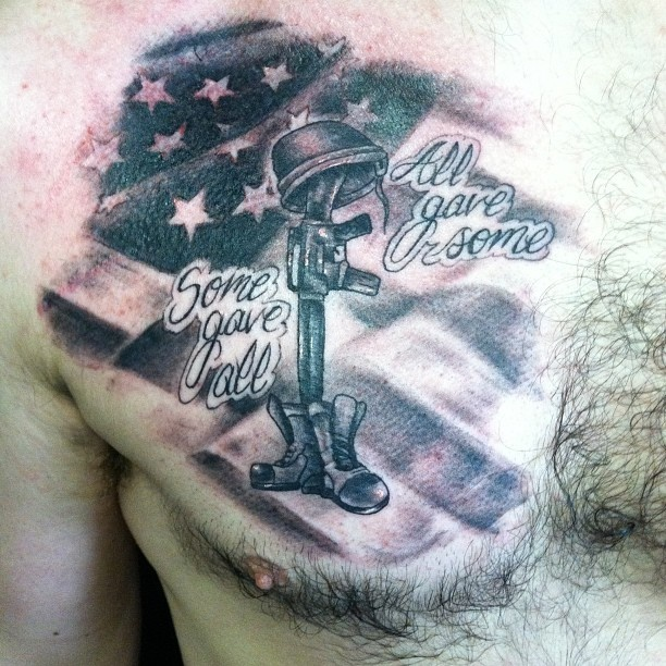 Memorial War Solider Designs: Soldiers Memorial Tattoo Picture