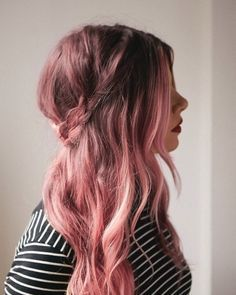 short brunette hair pink ends - Google Search