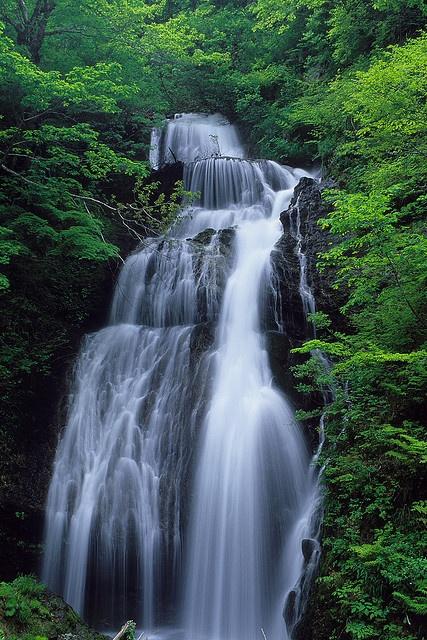 Uba Falls 姥滝    Nishiwagamachi, IwateIwate Japan, Things Japan, Fall Japan, Uba Fall, Beautiful Japan, Beautiful Scenery, Beautiful Places, Japan Iwate, Sky Genta
