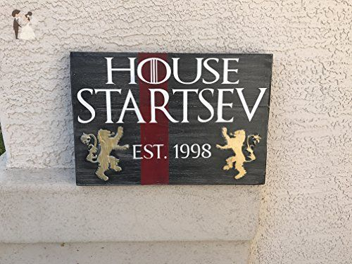 House Lannister inspired Family Name Plaque - Venue and reception decor (*Amazon Partner-Link)