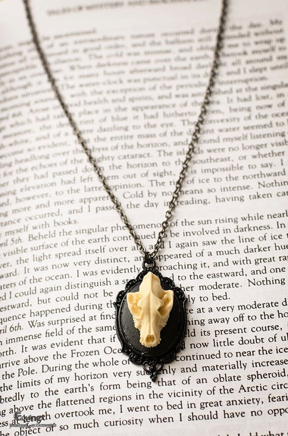 Lycanthropy ivory version  Animal Skull Cameo by VictoriaEquinox