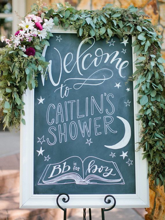 signs chalkboard art garden baby showers girl baby showers baby shower