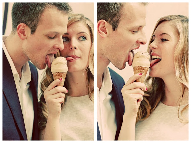 a stop at the couple's favorite ice cream truck in this romantic NYC West Village engagement session | photos by http://www.artoflove.com/
