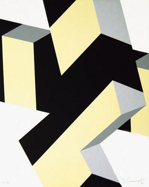 weissesrauschen: Allan d' Arcangelo ohne Titel (geometrische Komposition) 1969