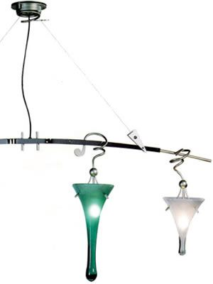Lamp International Goccia 4-Light Linear Pendants LI2014 from Illuminating Experiences  Art Deco, Art Nouveau, Rustic & Eclectic Pool table & Island Lights - Brand Lighting Discount Lighting - Call Brand Lighting Sales 800-585-1285 to ask for your best price!
