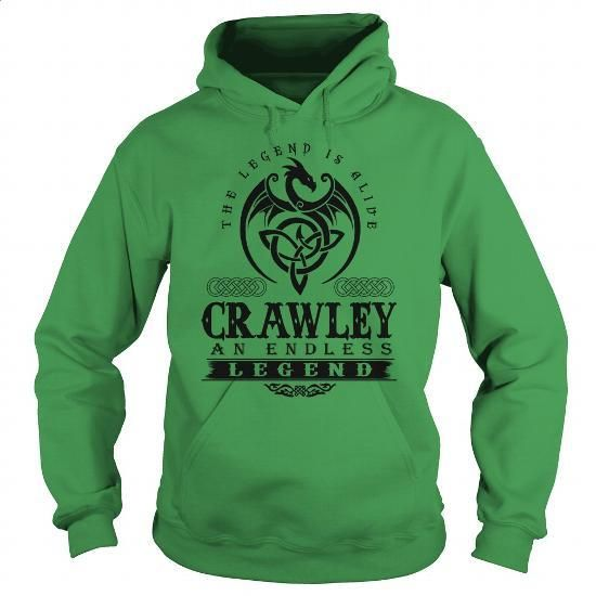 CRAWLEY - #hilarious t shirts. CRAWLEY, crew neck sweatshirts,zip hooded sweatshirt. ORDER HERE => https://www.sunfrog.com/Names/CRAWLEY-133262409-Green-Hoodie.html?id=67911