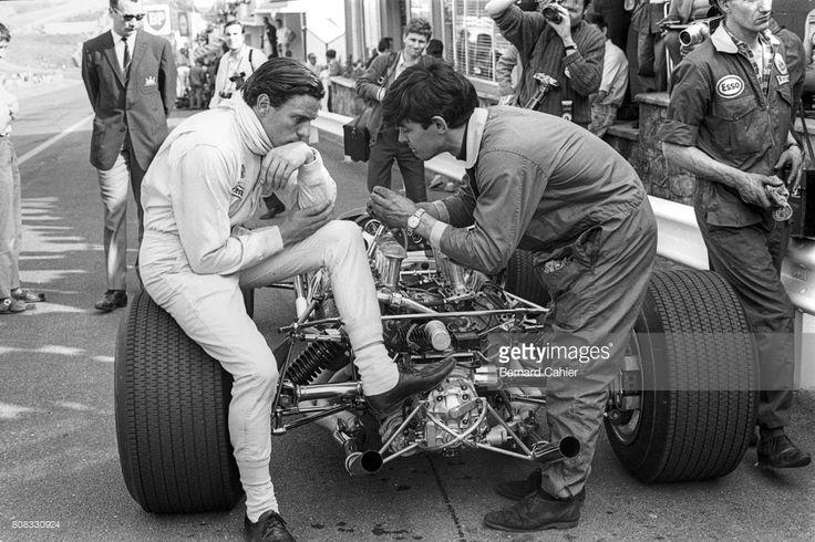 Jim Clark, Lotus 49 Ford Cosworth, Grand Prix of Belgium, Spa Francorchamps, 18 June 1967.