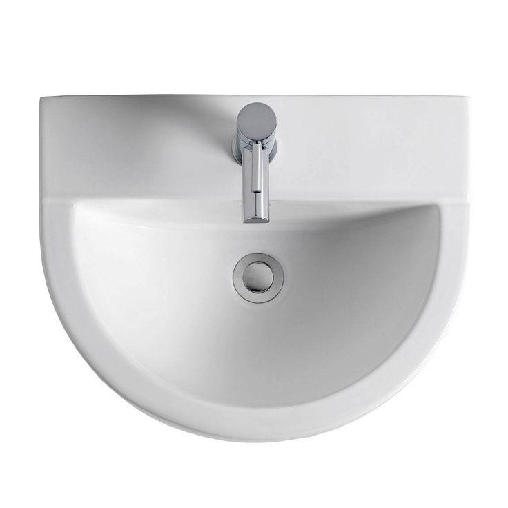 The Bath Co. Camberley 2 tap hole full pedestal basin 610mm