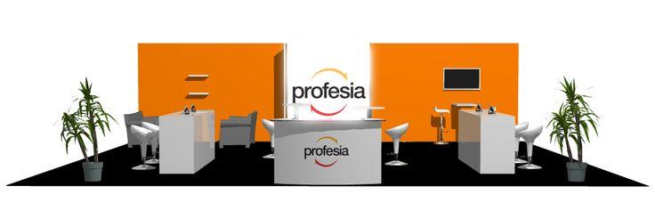 Profesia trade show stand design