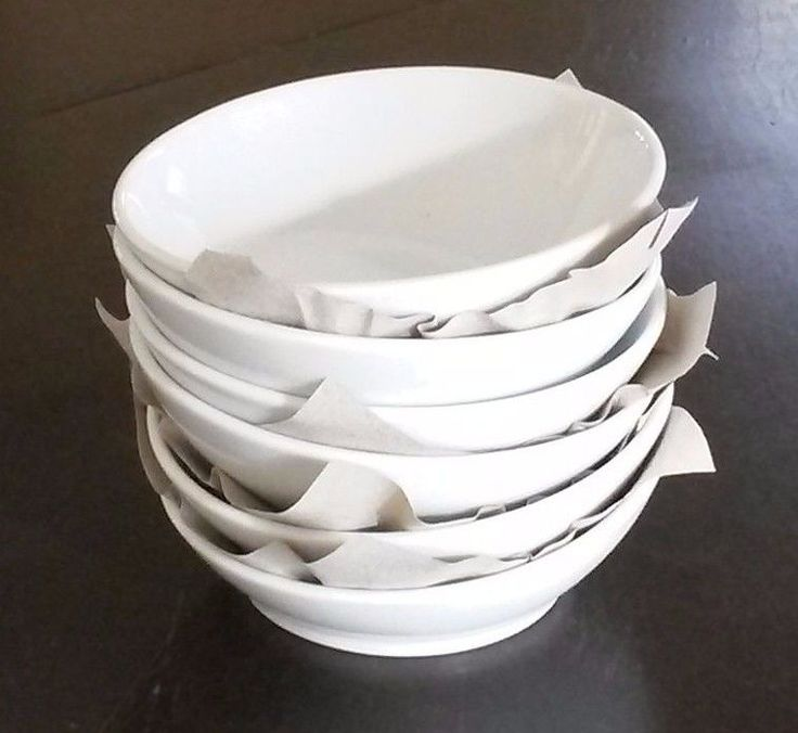 "Seltmann Weiden (8) White Slanted 4 1/2"" Serving Porcelain Bowls Bavaria Germany #SeltmannWeiden"