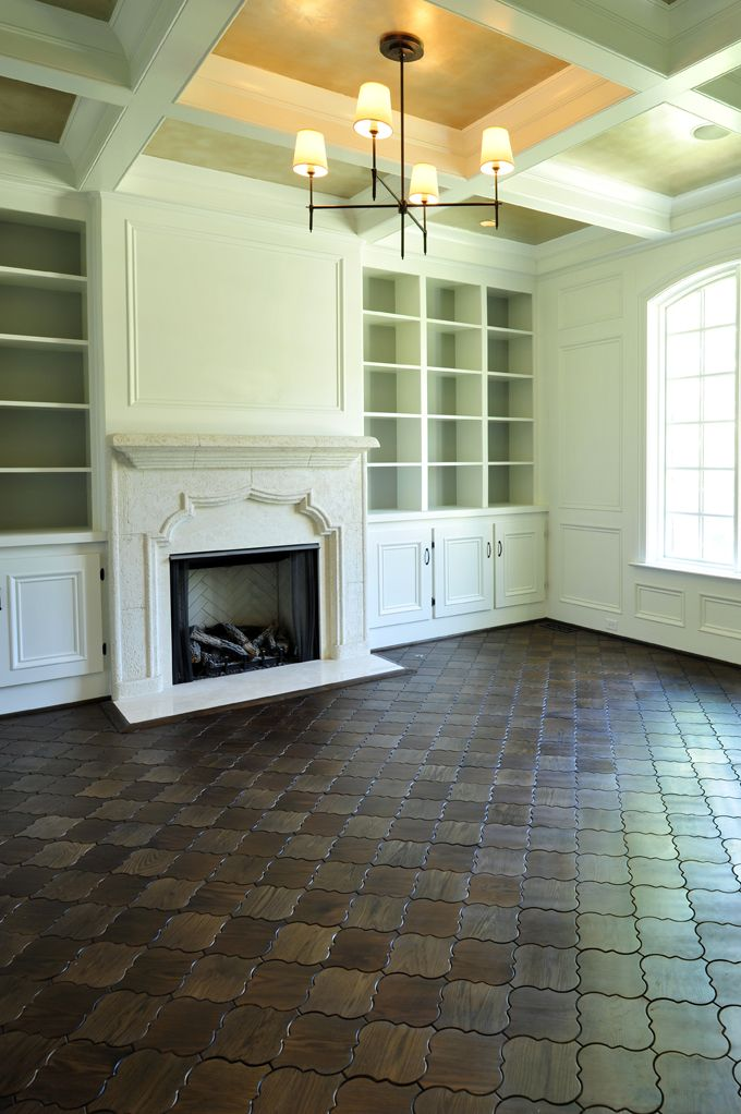 these will look great in the kitchen: Interior Design, Living Rooms, Built Ins, Floors, Beckwith Collection, Fireplace, Wood Tile